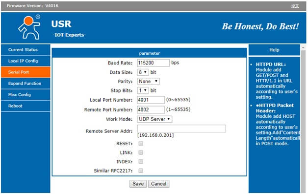 USR-TCP232-302 setup guide